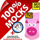 Mocks Pig Mobile Phone MP3 Sock Case Cover Pouch Sleeve for iPhone 4S 5 5C 5S SE