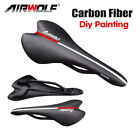 Full Carbon Fiber MTB Road Bike Saddle 3K Weave Mountain Bicycle Seat ultralight
