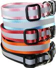 Dog Pet Puppy Collar Reflective Safe Nylon For Small  Big Large Dogs XXS XL