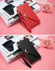 Luxury Leather Envelope Flip Wallet Back Case Cover For Samsung Galaxy S9 Plus +