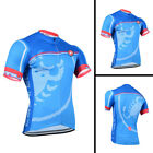 2018 Blue Men's Short Sleeve Cycling Jersey Bike Clothing Bicycle Shorts Set