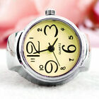 Chic Dial Quartz Watch Creative Steel Cool Elastic Quartz Finger Ring Watch Gift