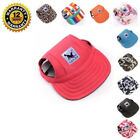 Summer Baseball Cap Canvas Sun Visor with Ear Holes Hat For Small Cute Pet Dogs