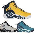 Mens FILA Jamal Mashburn MB Retro Basketball Shoes Sneakers Ink Blue White Navy