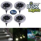 1/2/4Pack Disk Lights Solar Powered LED Outdoor Lights