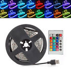 0.5-5M 5V 5050 RGB LED Strip Light Bar TV Back Lighting Kit + USB Remote Control