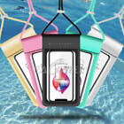 Swimming Waterproof Underwater Neck Pouch Bag Dry Case w/ Strap For Mobile Phone