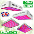45W-1000W LED Grow Light Hydro Full Spectrum Veg Flower Indoor Plant Lamp Panel