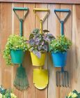 Farmhouse Planter Wall Pot Rustic Hanging Metal Garden Basket Flower Outdoor New