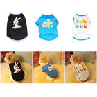 US Pet Vest Dog Cat Style Printed T Shirt Puppy Kitten Apparel Clothing Supplies