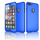 For iPhone 6 6S 8 7 Plus X Case 360° Full Hybrid Shockproof Hard Rubber Cover