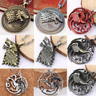 Game Of Thrones House Stark Sigil Alloy Metal Pendant Necklace Chain Jewelry