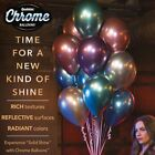"10Pcs 10"" Metallic Chrome Balloons Bouquet Party Birthday Wedding Decor Shiny"