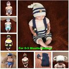 Newborn Baby 0-3 M Costume Props For Photography Knitted Baby Hat Pants Beanie
