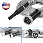 25-100 Ft Stainless Steel Metal Garden Water Hose Lightweigh