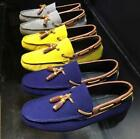 Mens Suede Leather Tassel Slip On Gommino Driving SHoes Loafer Stylish Comfort