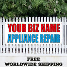 Banner Vinyl YOUR BIZ NAME APPLIANCE REPAIR Advertising Sign Flag Custom Name  photo
