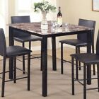counter height dining table black - Roundhill Furniture Citico Counter Height Dining Table