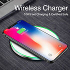 Qi Wireless Charger Pad Fast Cordless For i Phone X Samsung Note 8 S7 S8 S9 Plus