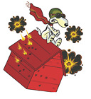 Snoopy as Red Baron 3m Vinyl Decal sticker ez apply air egress vinyl flying ace