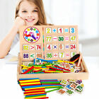 Wooden Mathematical Intelligence Stick Rod Clock Kids Preschool Educational Toys
