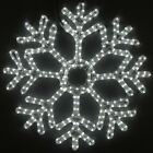 Christmas Snowflake LED Rope Light Sculpture, Pure White