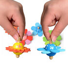 EP_ Lovely Wooden Flower Rotate Develop Intelligence Peg-Top Kids Spinning Toy C