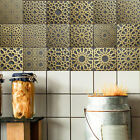 Ep_ Moroccan Style Vintage Pvc Tile Sticker Living Room Kitchen Home Wall Decor