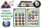 Billiards Pool 8 Ball You Pick 15-150 Precut Bottle Cap Images Shipping Discount $2.19 USD on eBay
