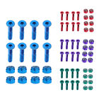 8pcs Replacement Skateboard Truck Hardware Longboard Mounting Screws Bolts image