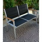 Coral Coast Southwick Padded Sling Outdoor Bench