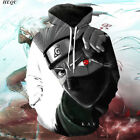 New Women/Men Japanese Anime Naruto Kakashi 3D Print Pullove