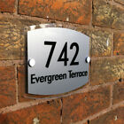 Customized Modern Outdoor Acrylic Door Apartment House Number Address Home Sign