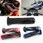 "2x Universal Motorcycle Aluminum Rubber Gel Hand Grips for 7/8"" 22mm Handle Bars"