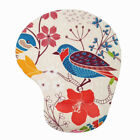 Hand-Painted Bird Silicone 3D Mouse Pads with Wrist Rest Gaming Mousepads 2Way S