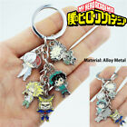 Anime My Hero Academia Keychain Keyring 5Pcs/Set Metal Pendants Cartoon Key Ring