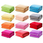 US Super Soft Micro Plush Fleece Blanket Solid Bedding Soft Warm Throw Rug Sofa image