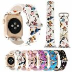 Flowers Bird Genuine Leather Wristwatch Bands Strap for Apple Watch Series 1 2 3