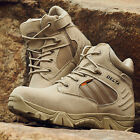 Men Desert Delta Force Military Boots Tactical Airsoft Hunting Outdoor Army Tan^