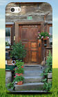 BROWN WOODEN DOOR NEAR GREEN PLANT HARD BACK CASE FOR APPLE IPHONE PHONE