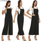 Women's Cotton Overalls Jumpsuit Strap Rompers Dungaree Oversized Trousers AU