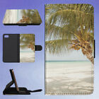 BEACH COAST COASTLINE COCONUT TREES FLIP WALLET CASE FOR APPLE IPHONE PHONES