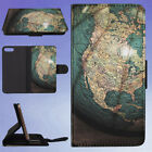 ANTIQUE GLOBE SHOP STORE FLIP WALLET CASE FOR APPLE IPHONE PHONES