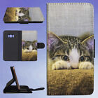 EYES CAT COACH SOFA FLIP CASE COVER FOR SAMSUNG GALAXY PHONE