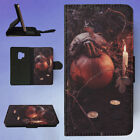 JACK O LANTERN BESIDE CANDLES HALLOWEEN FLIP CASE COVER FOR SAMSUNG GALAXY PHONE