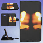 ILLUMINATED CANDLE FLIP CASE COVER FOR SAMSUNG GALAXY PHONE