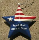 Metal  Armed Services Christmas Star Ornaments - 5 Different Ornaments