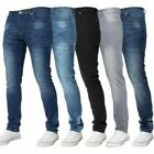 Kruze Mens Skinny Stretch Jeans Slim Fit Flex Denim Trousers Pants All Waists