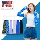 2pcs Women Men Cooling Arm Sleeve Elastic Sleeves Outdoor Sun Protection Cuff