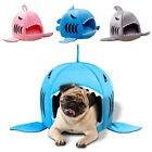Shark Pet Cat Dog Nest Bed Puppy Soft Warm Cave House Sleeping Mat Pad Kennel
